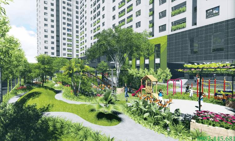 Sân chơi trẻ em tại chung cư Ecolife Tây Hồ