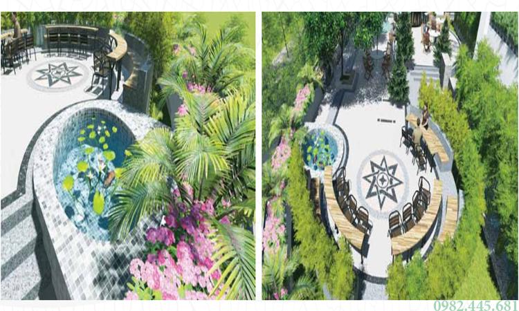 Sân vườn trên tòa nhà Ecolife Tây Hồ