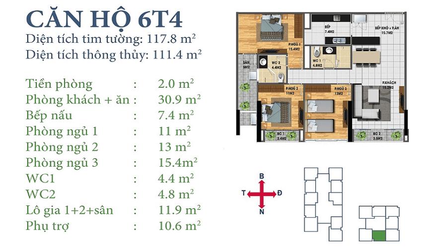 Căn 6T4 dự án Horizon Tower