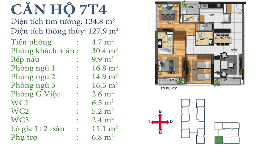 Căn 7T4 Dự án Horizon Tower Ngoại Giao Đoàn