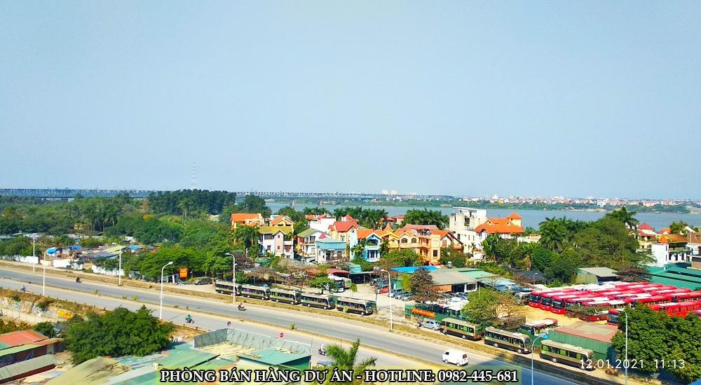 chung cư tây hồ river view nhìn cầu thăng long