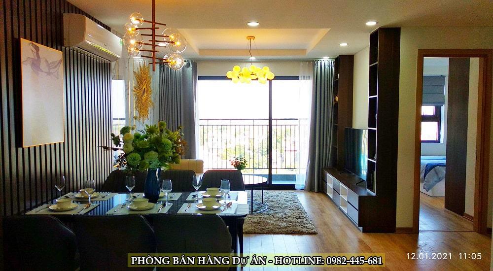 phòng khách chung cư tây hồ river view 2