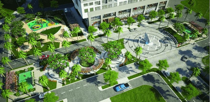Sân vườn Chung cư Horizon Tower Ngoại Giao Đoàn