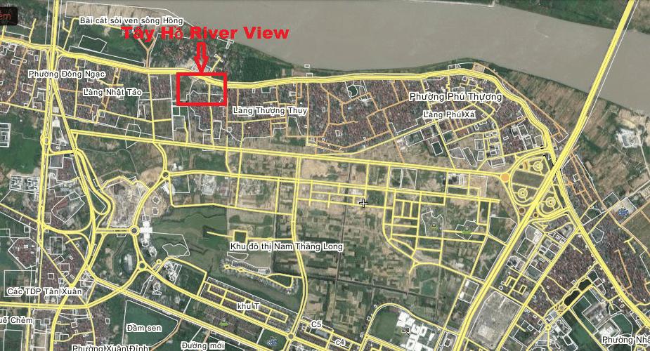 Vị trí Tây Hồ River View