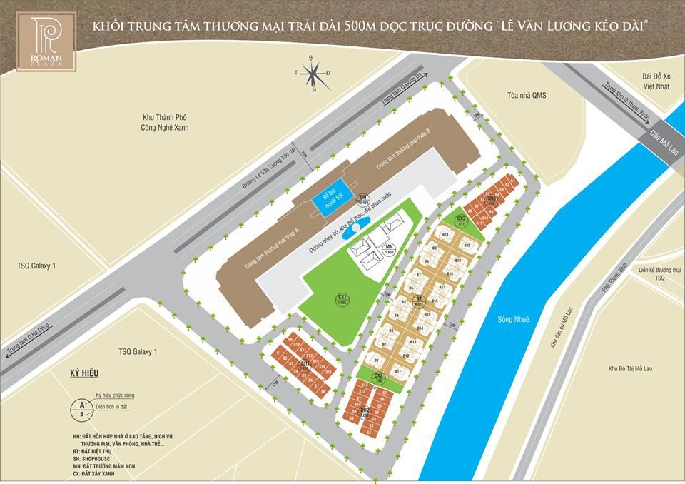 Quy hoạch dự án Roman Plaza Hải Phát