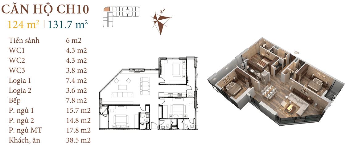 thiết kế căn hộ ch10 roman plaza hải phát
