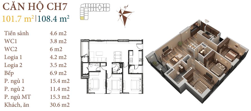 thiết kế căn ch7 chung cư roman plaza hai phát