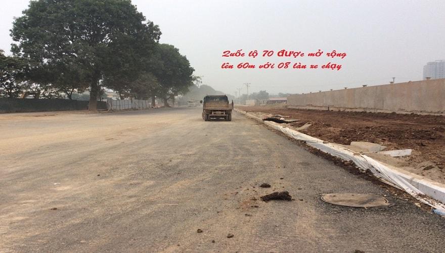 quốc lộ 70 chạy qua dự án hateco apollo