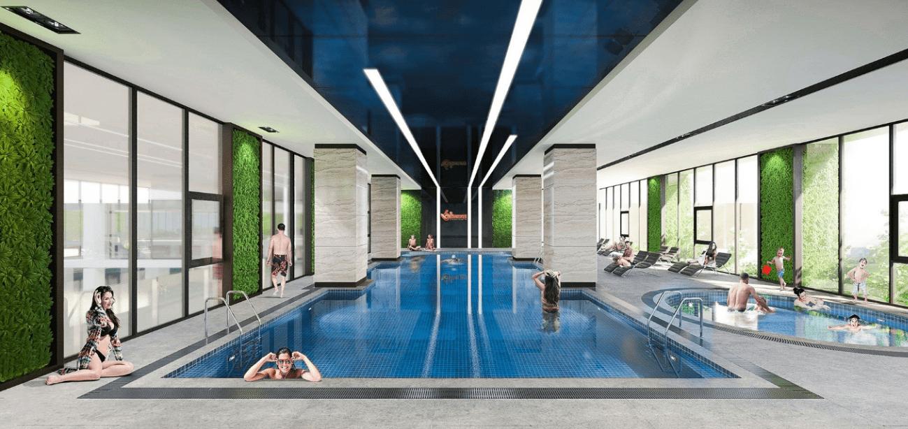 bể bơi trong nhà chung cư 6th element tây hồ tây