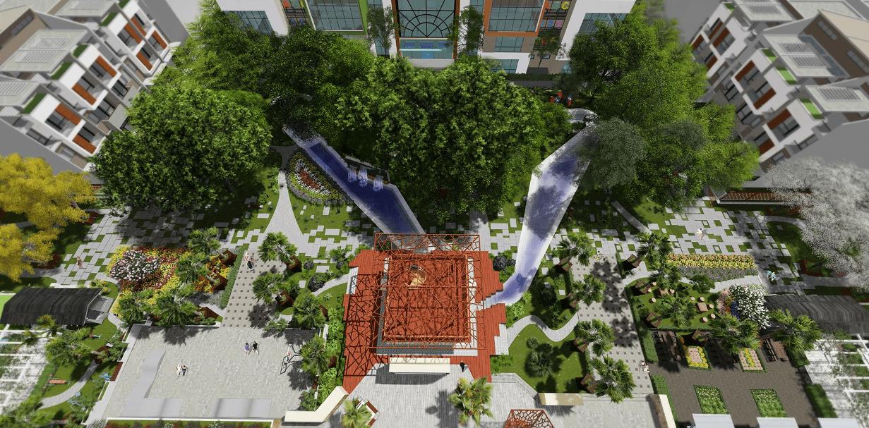 vườn dạo bộ chung cư 6th element tây hồ tây