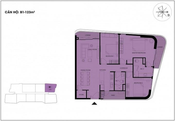 căn hộ 123m2 dự án n01 t6 t7 ngoại giao đoàn