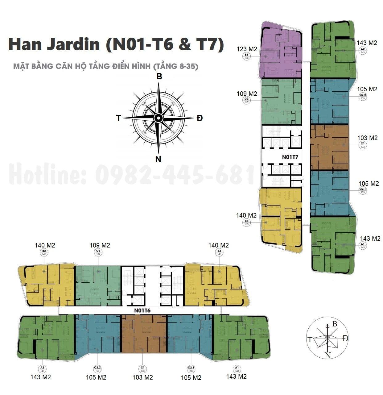 mặt bằng chung cư n01 t6 t7 ngoại giao đoàn
