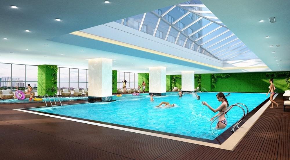 bể bơi chung cư epic home