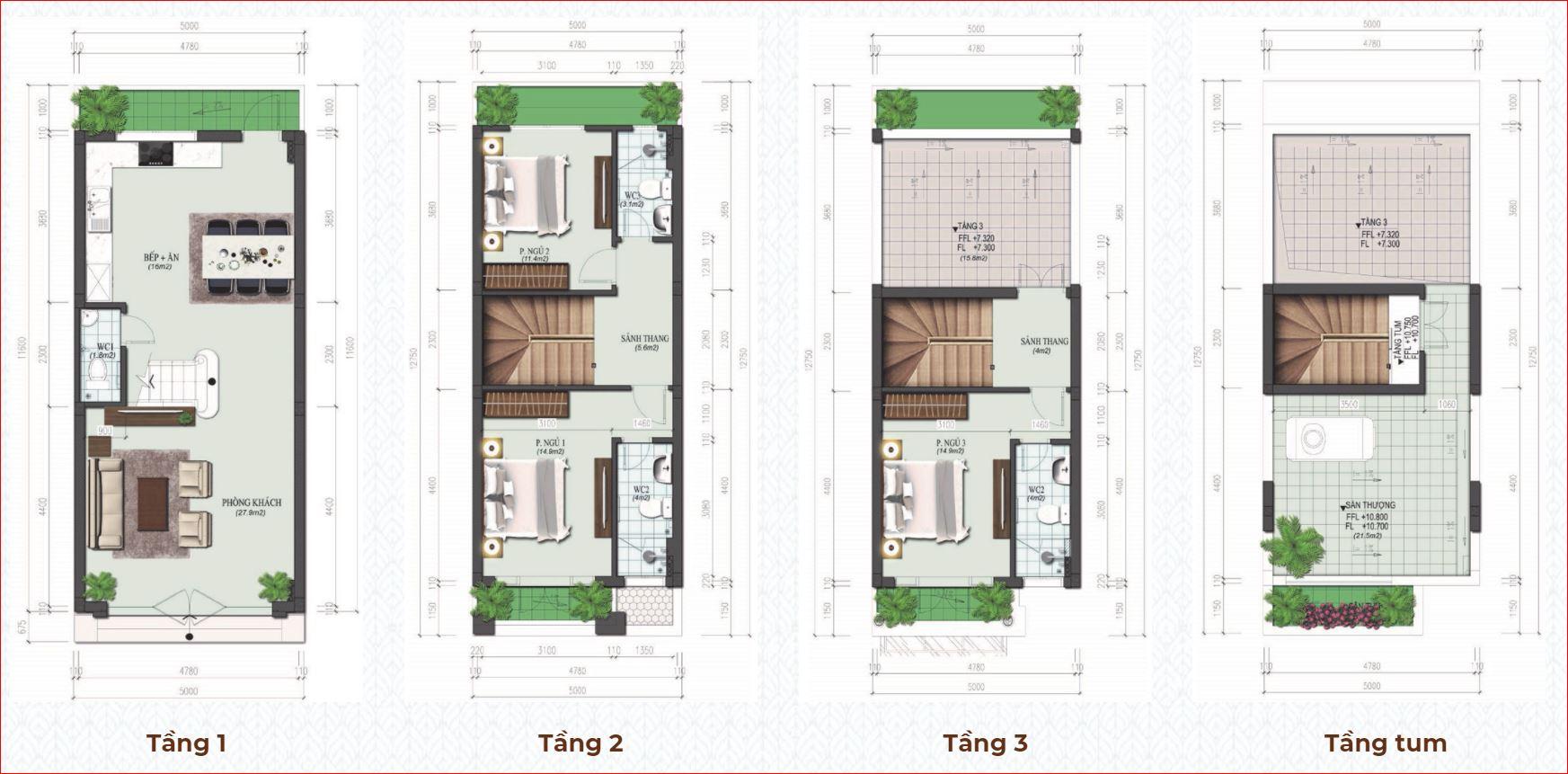 thiết kế liền kề Calyx Residence 319 Đông Anh