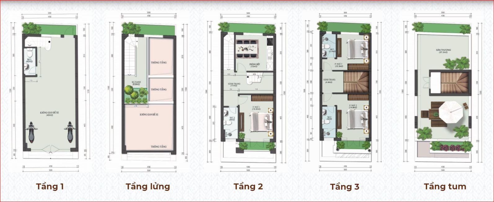thiết kế shophouse Calyx Residence 319 Đông Anh